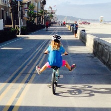 liv on a bike